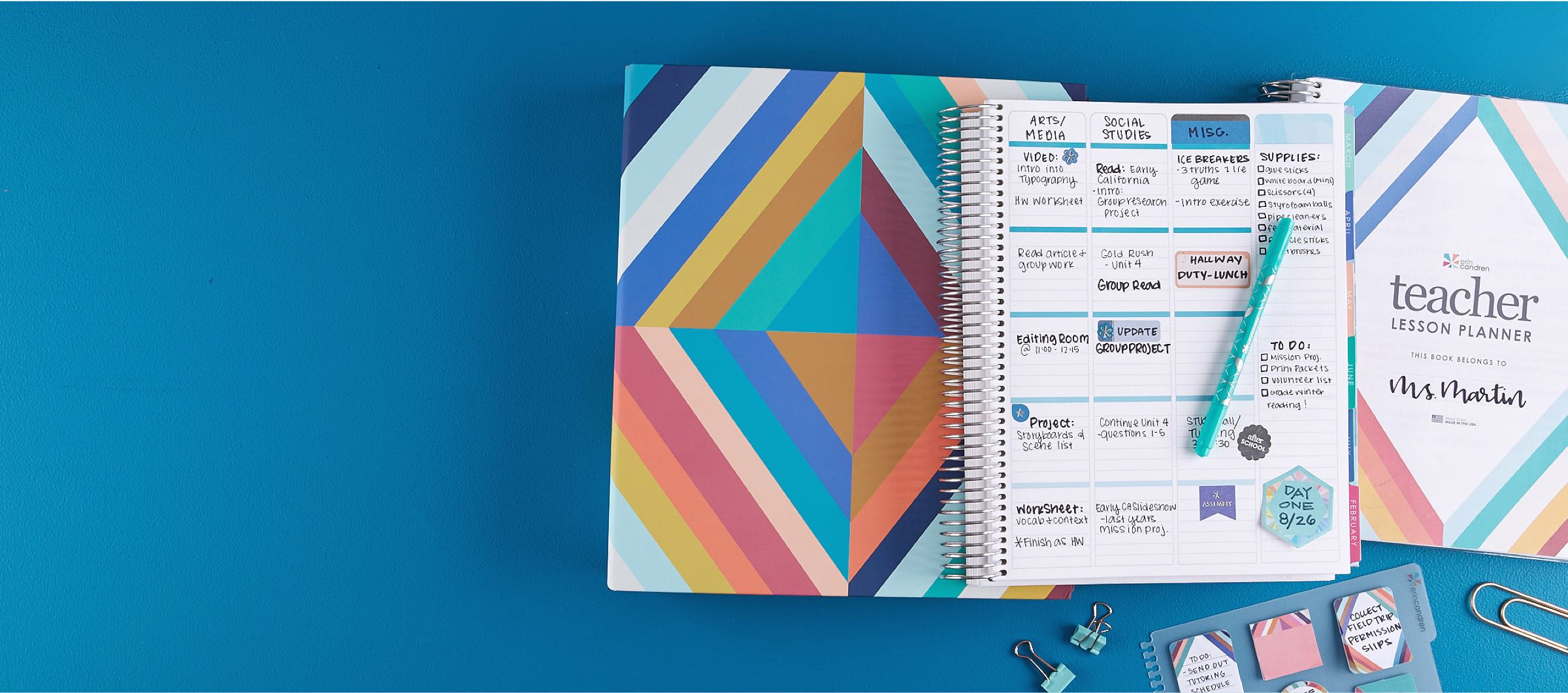 Teacher Planners | Lesson Plan Books